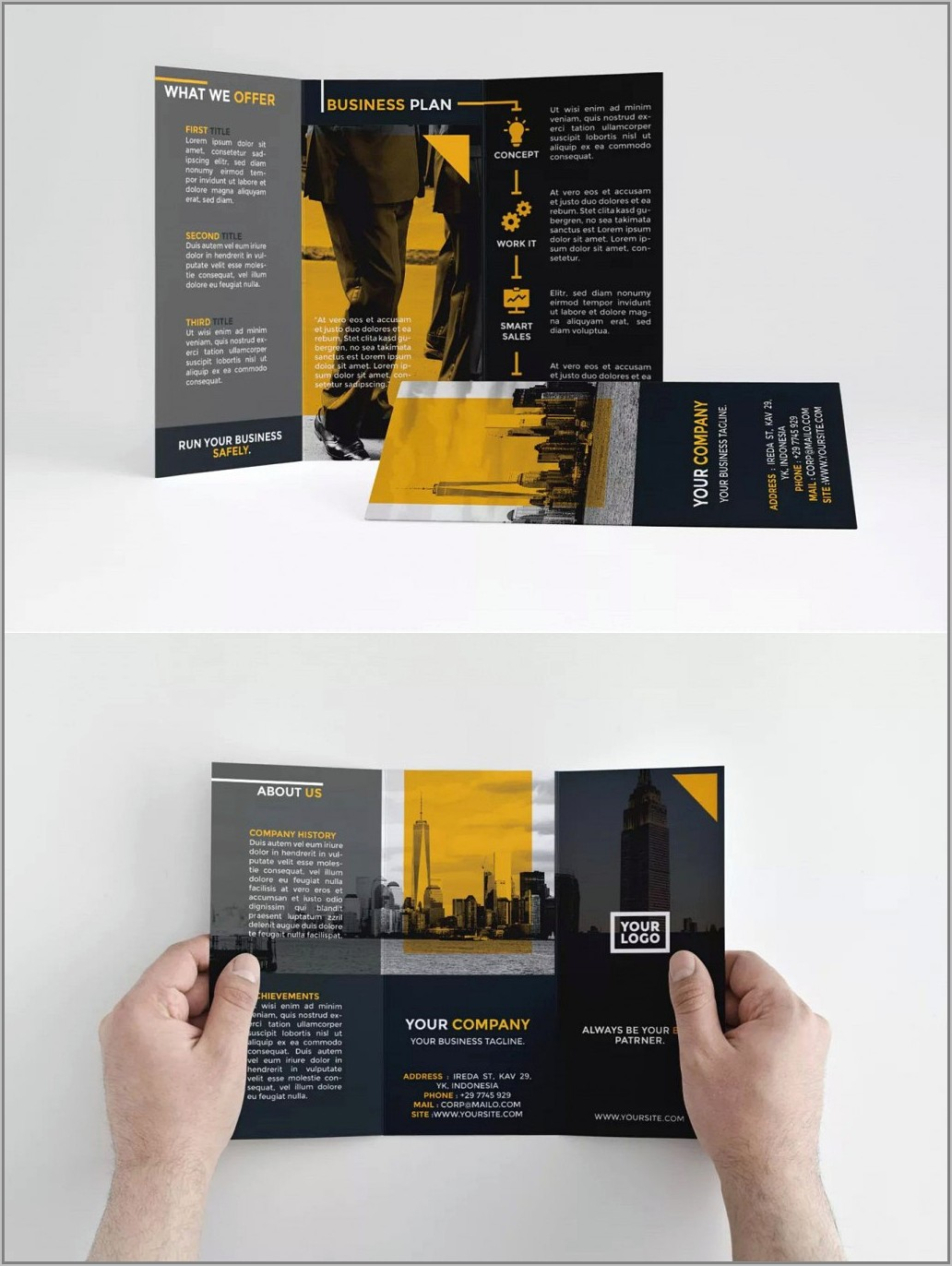 Indesign 3 Fold Brochure Template Free