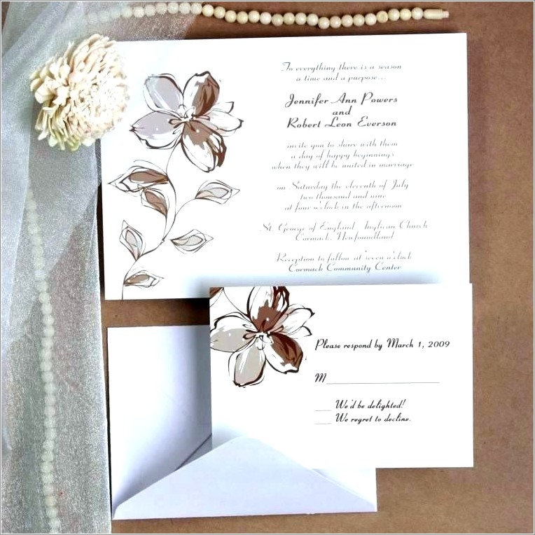 Inexpensive Wedding Invitations With Response Cards