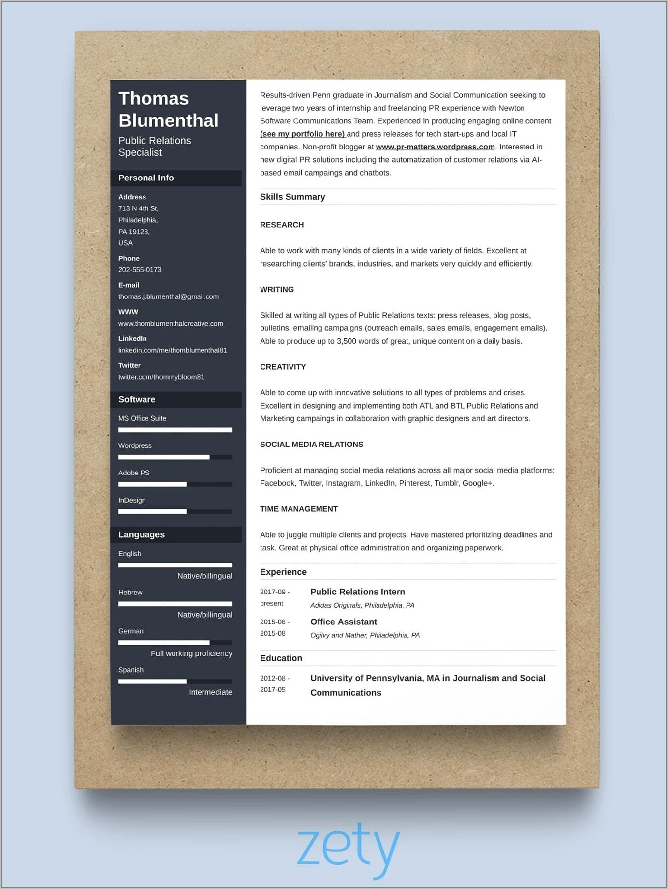 Insurance Sales Manager Resume Format