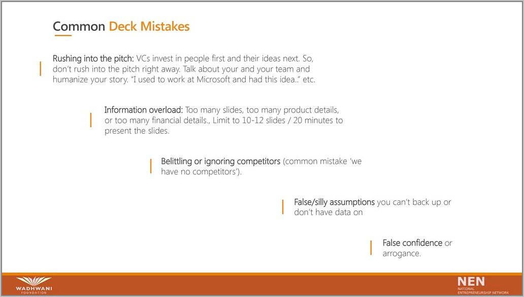 Investor Pitch Deck Template Ppt