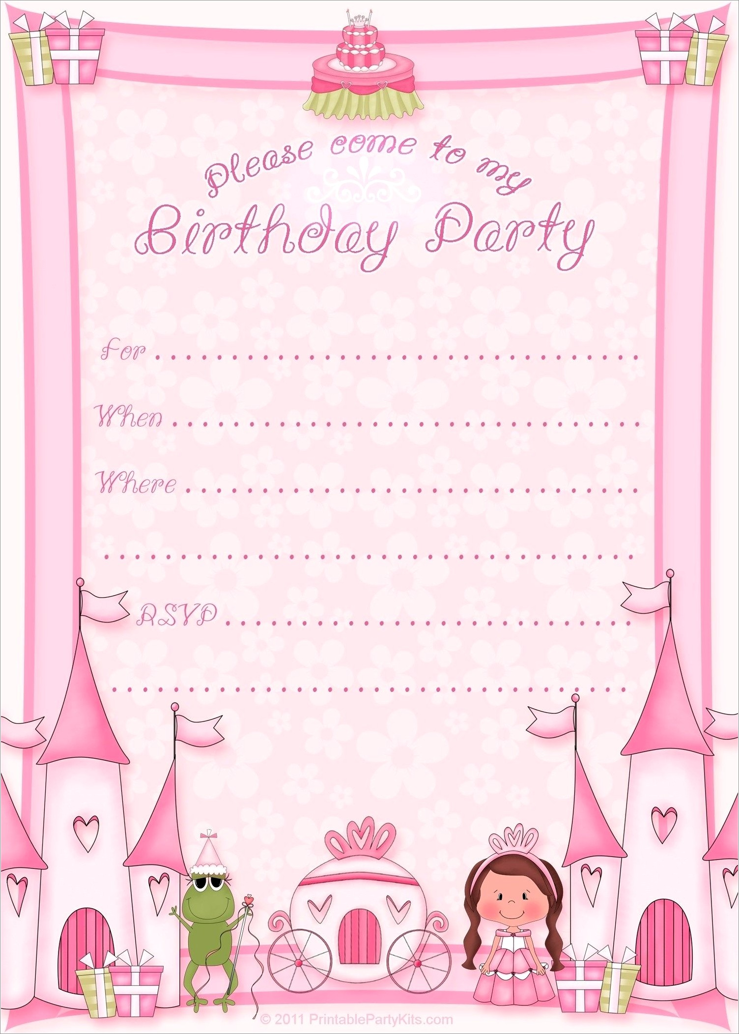 Invitation Card For Birthday Free Download