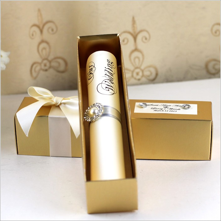 Invitation Scroll Tubes Wholesale