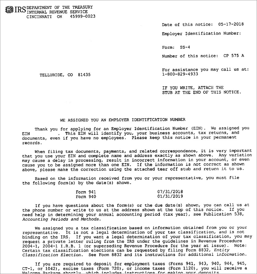 Irs Ein Confirmation Letter Request