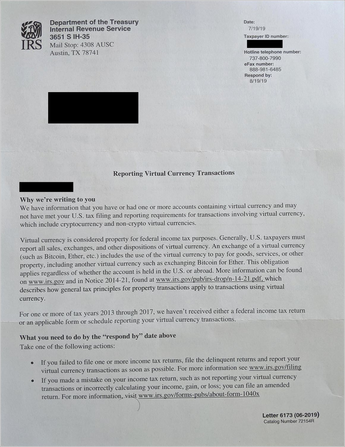 Irs Letter Of Non Tax Filer