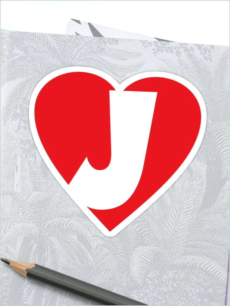 J Letter Images In Heart