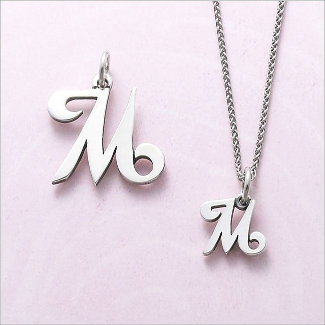 James Avery Letter Necklace