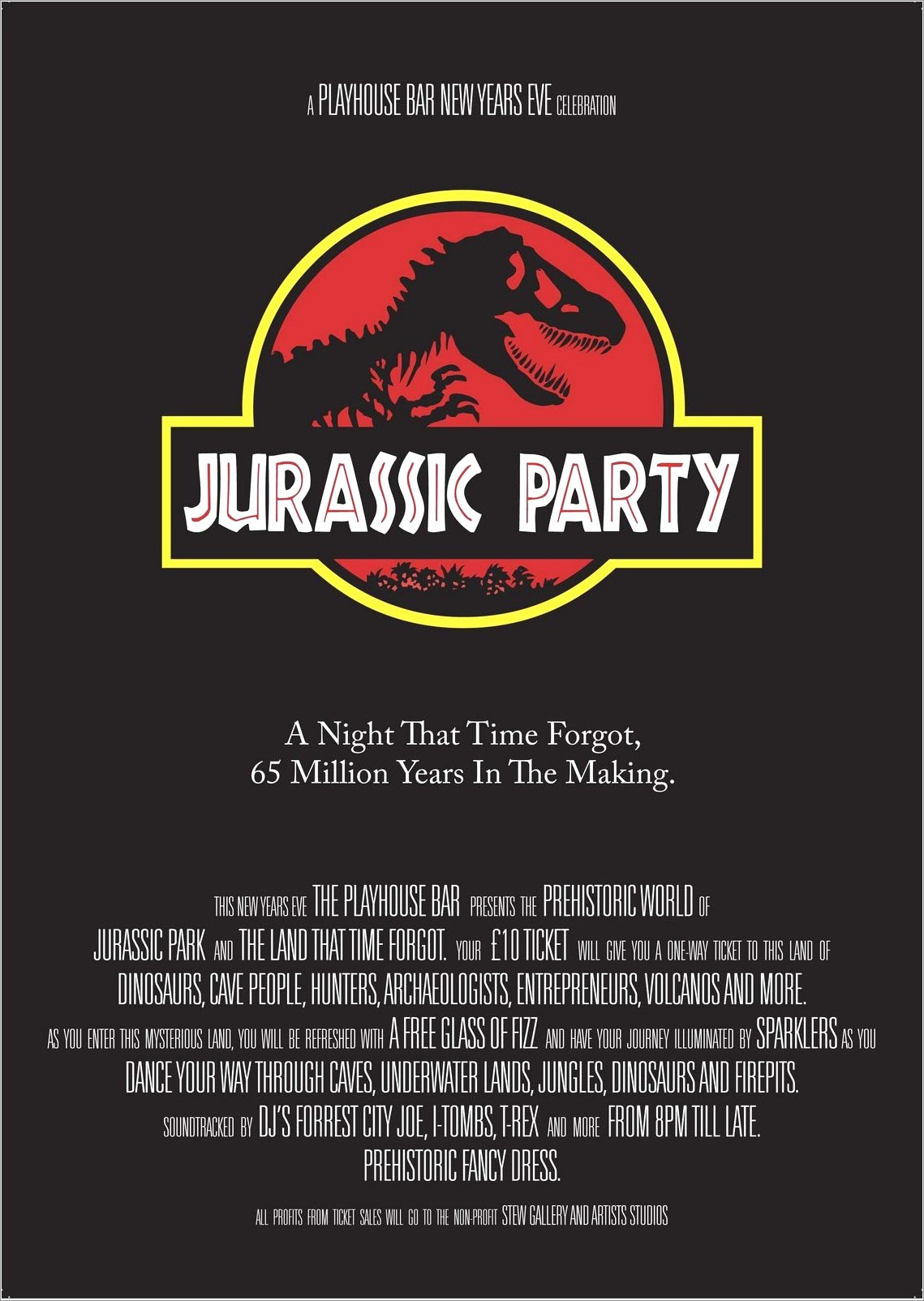 Jurassic World Birthday Invitation Template Free
