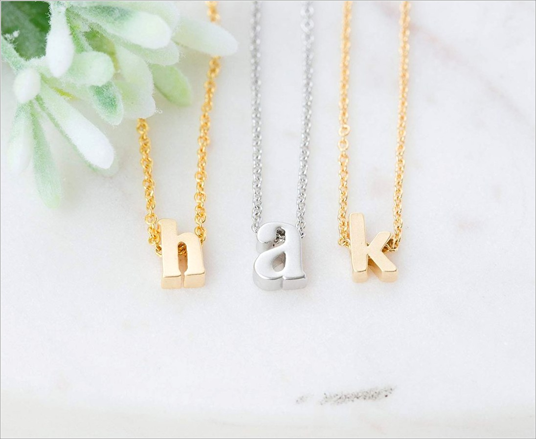 Kate Spade Silver Letter Necklace