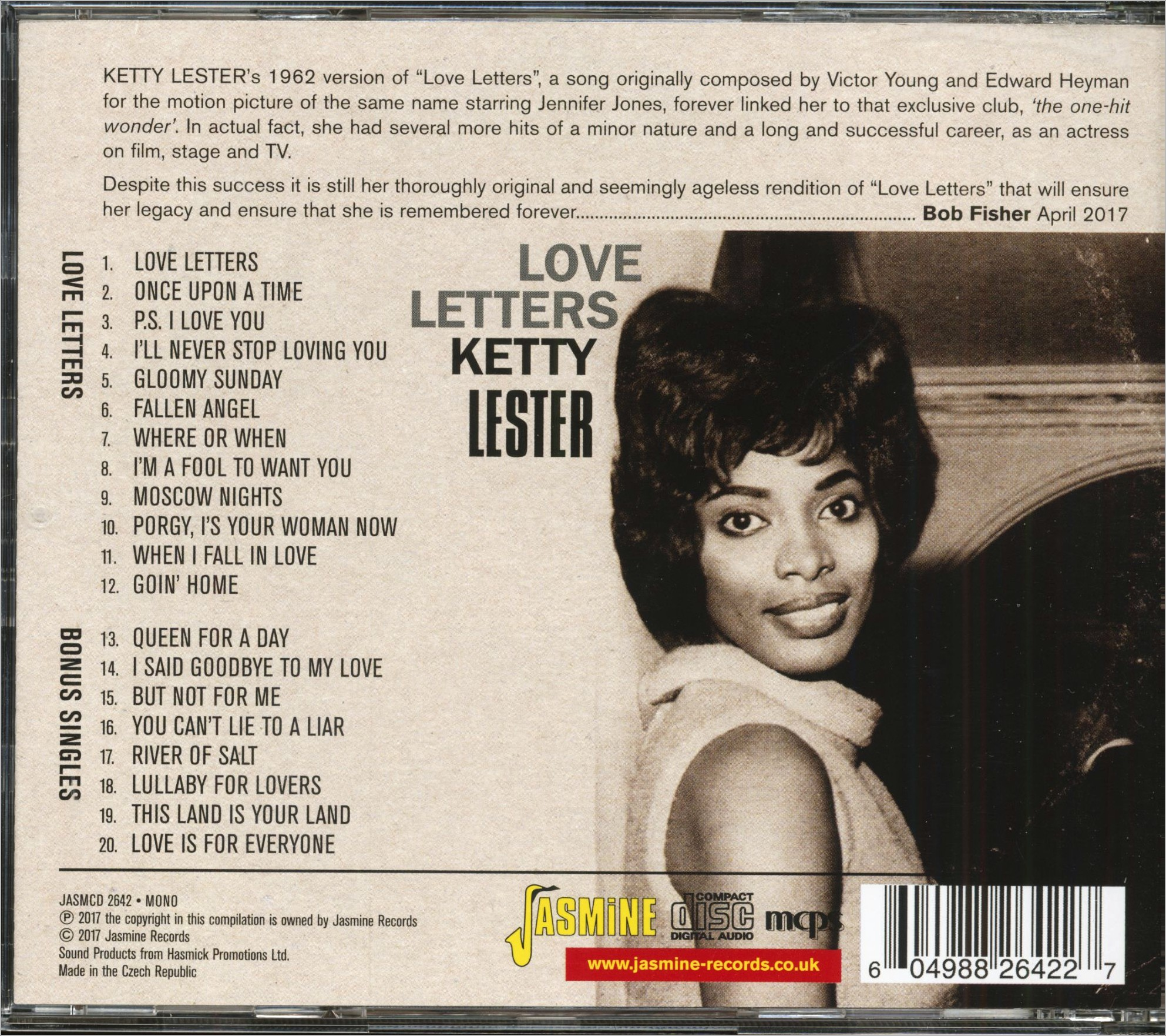 Ketty Lester Love Letters Cd