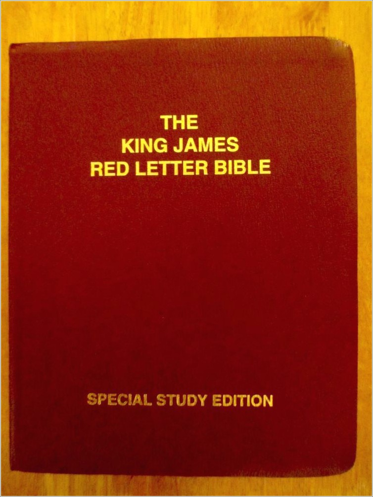 King James Bible Large Print Red Letter