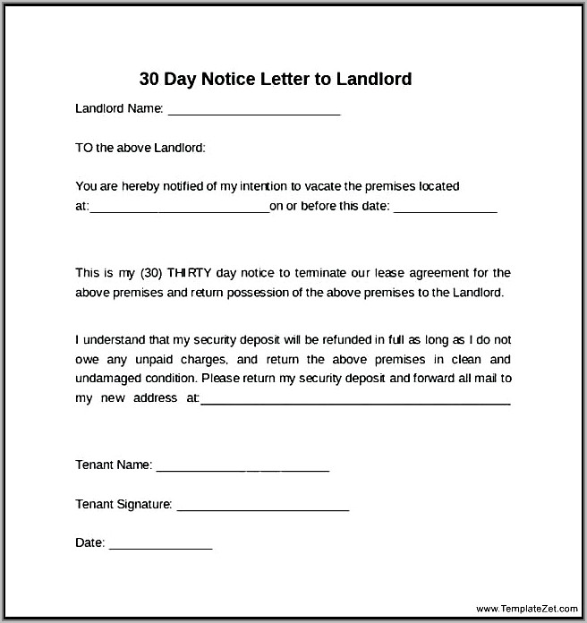 Landlord Notice To Vacate Nsw Template