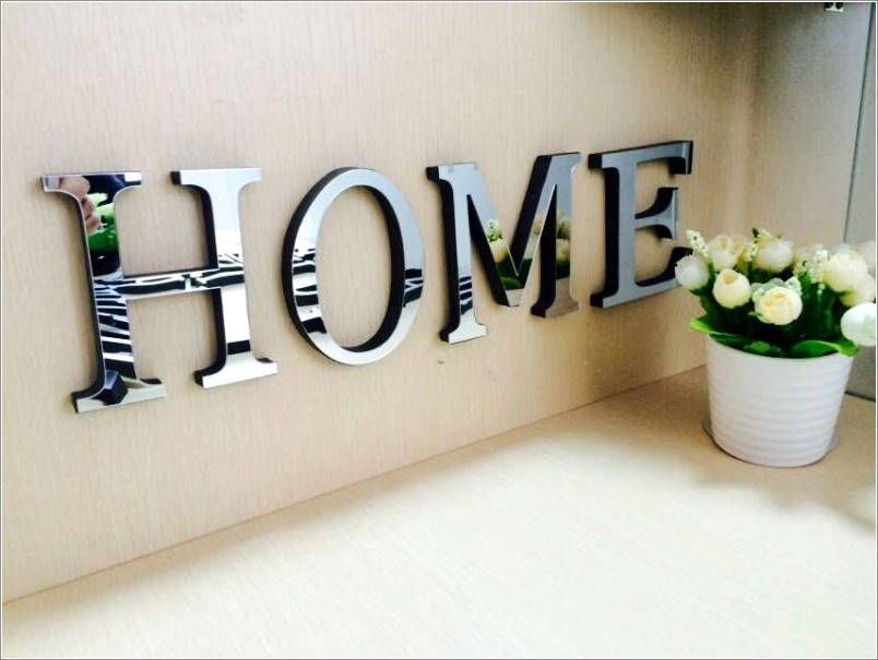 Large Chrome Letters For Wall