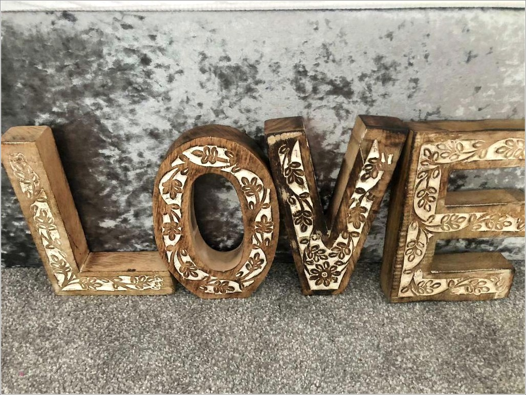 Large Chunky Wooden Letters