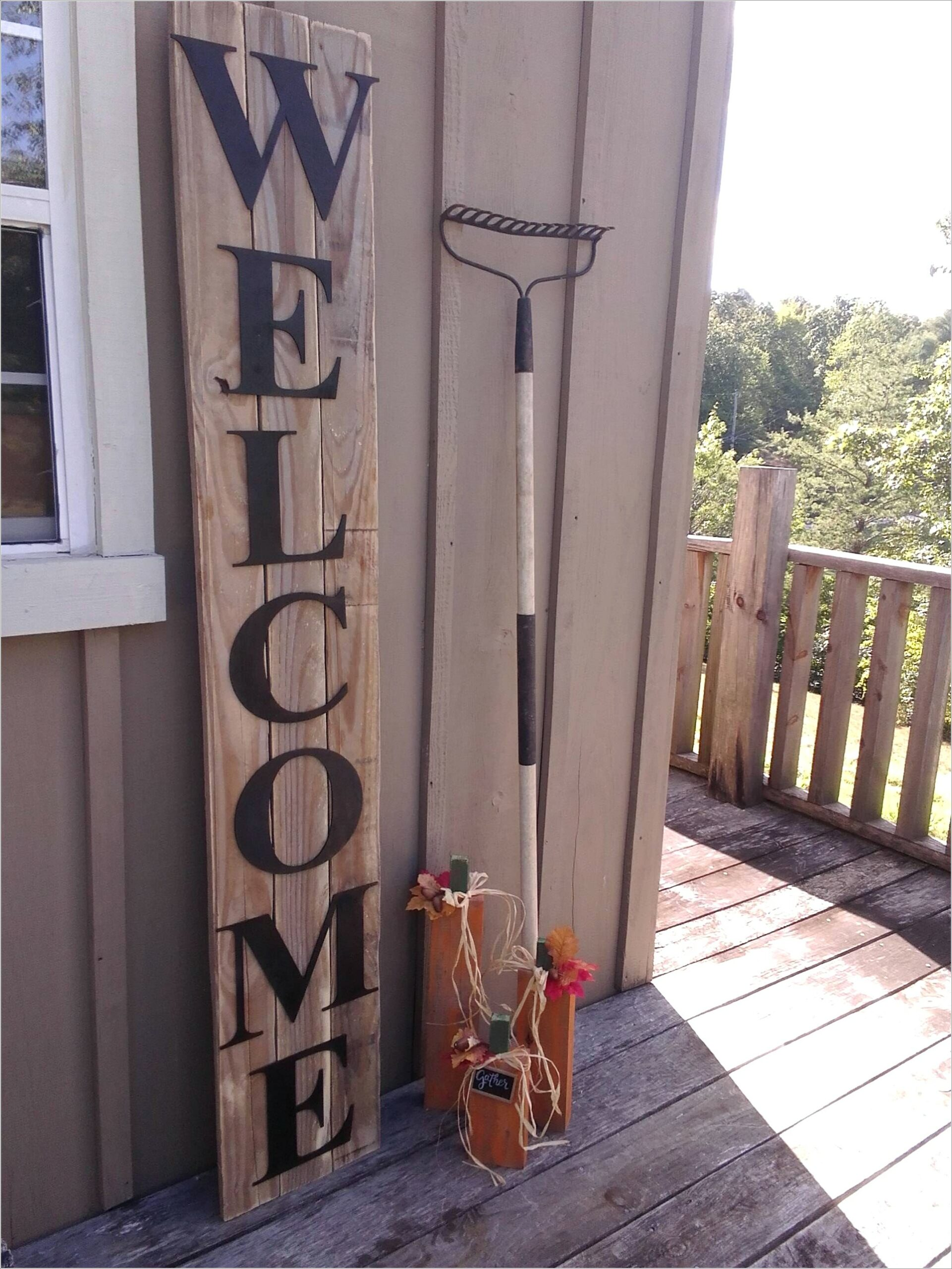 Large Outdoor Wooden Letters