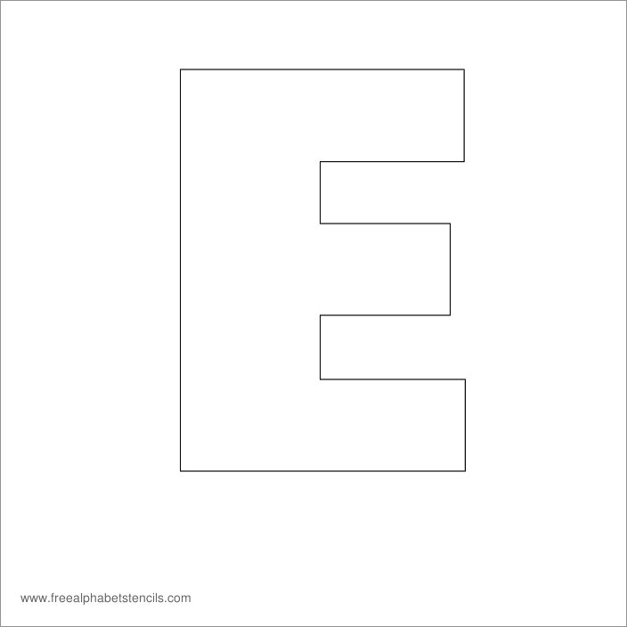 Large Printable Letters E