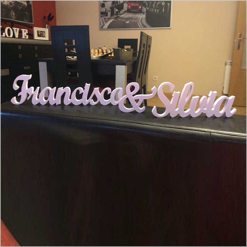 Large Wooden Standing Letters