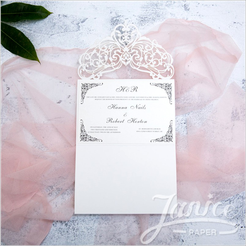 Laser Cut Invitations Wholesale