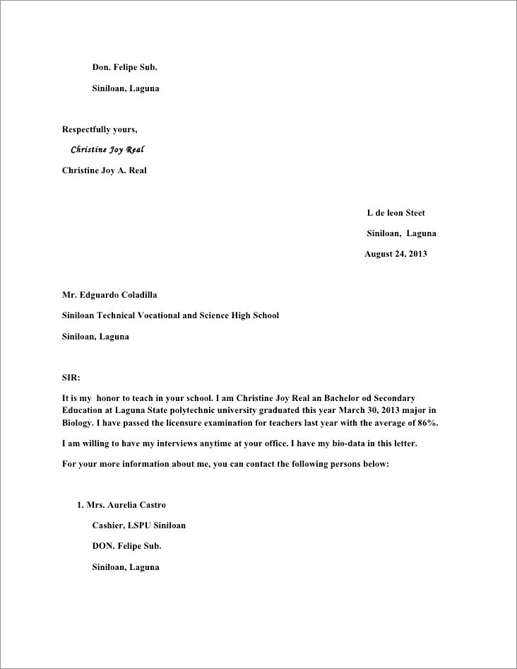 Layoff Notice Letter Sample