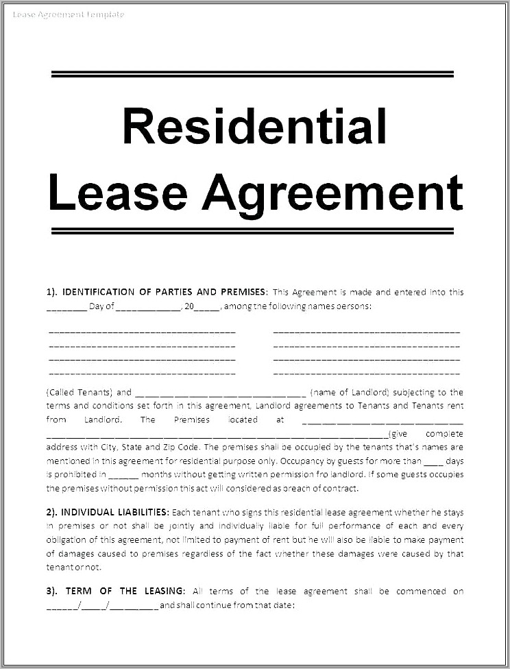 Lease Agreement Forms South Africa