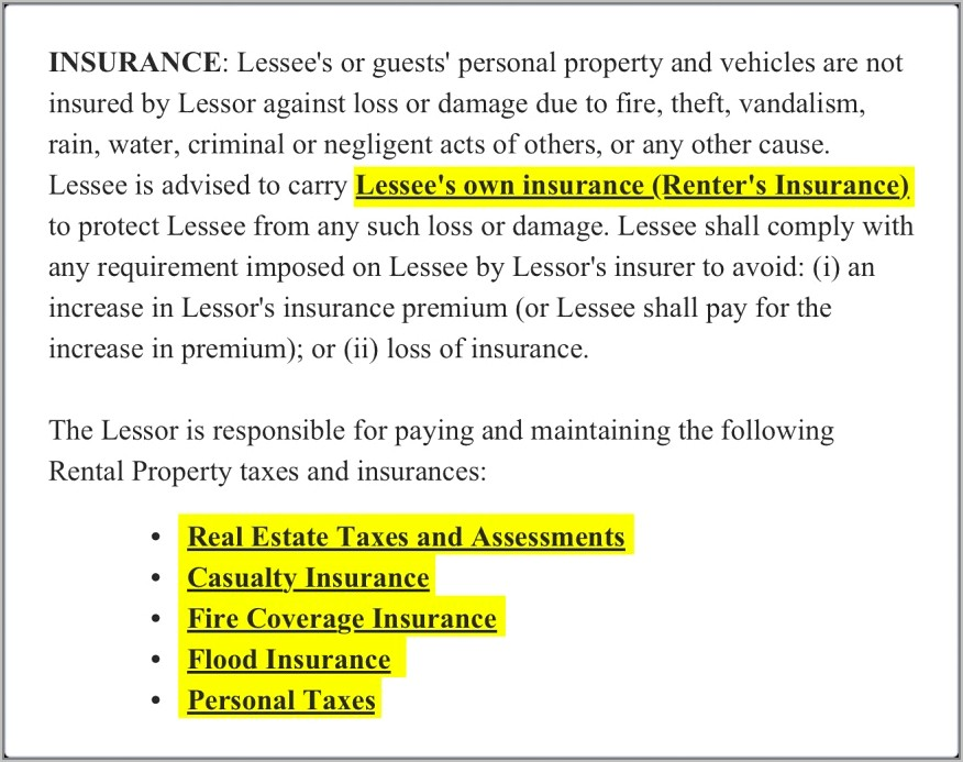 Lease Agreement Template South Africa Word Document