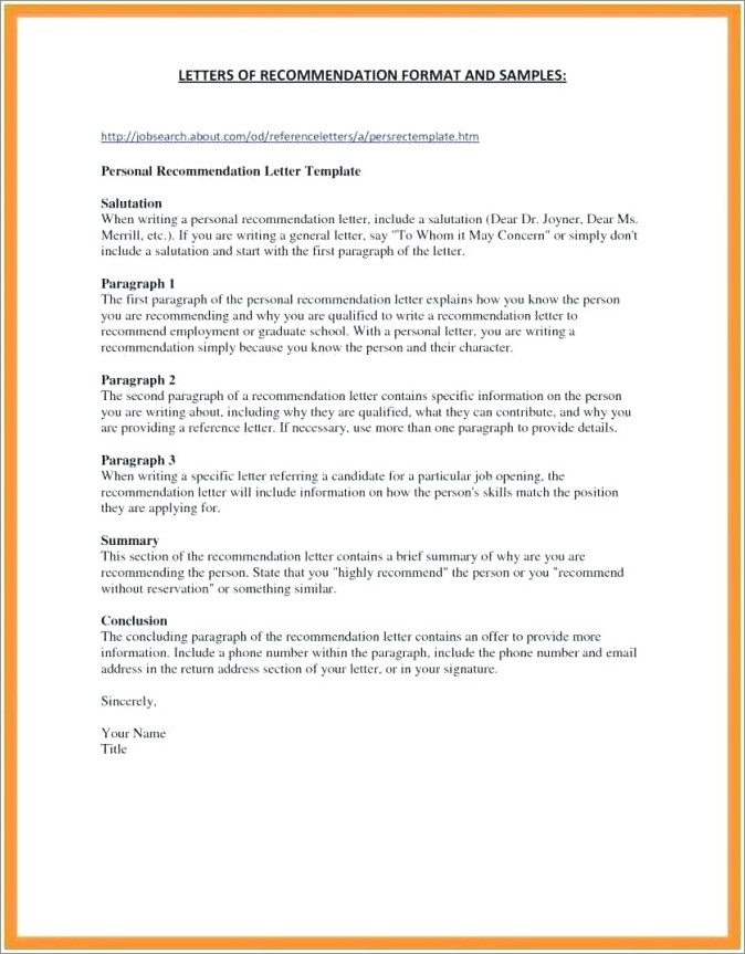 Letter Of Recommendation For Adoption Examples