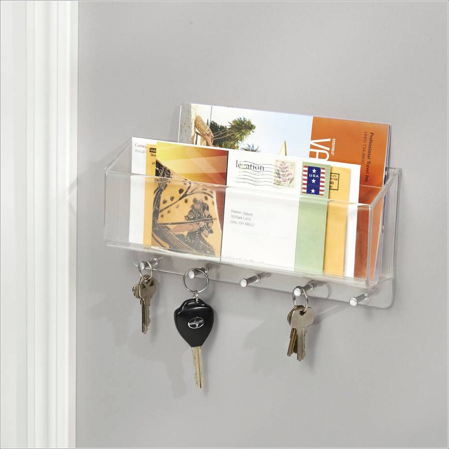 Letter Rack With Key Hooks