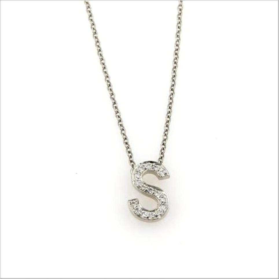 Letter S Necklace Tiffany