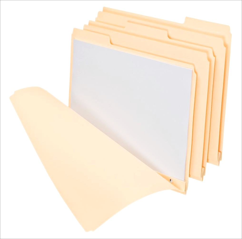 Letter Size File Folders With Fasteners