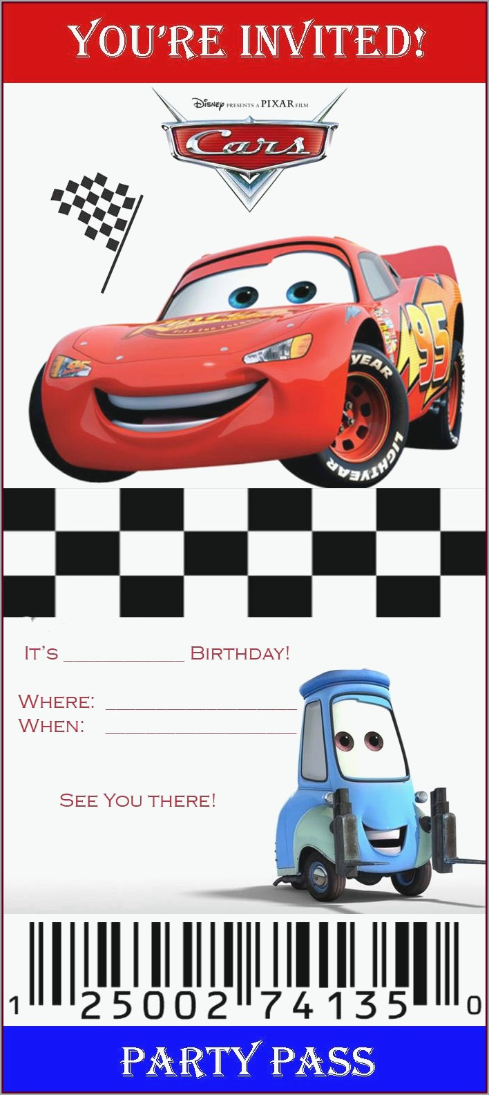 Lightning Mcqueen Invitations Make Your Own