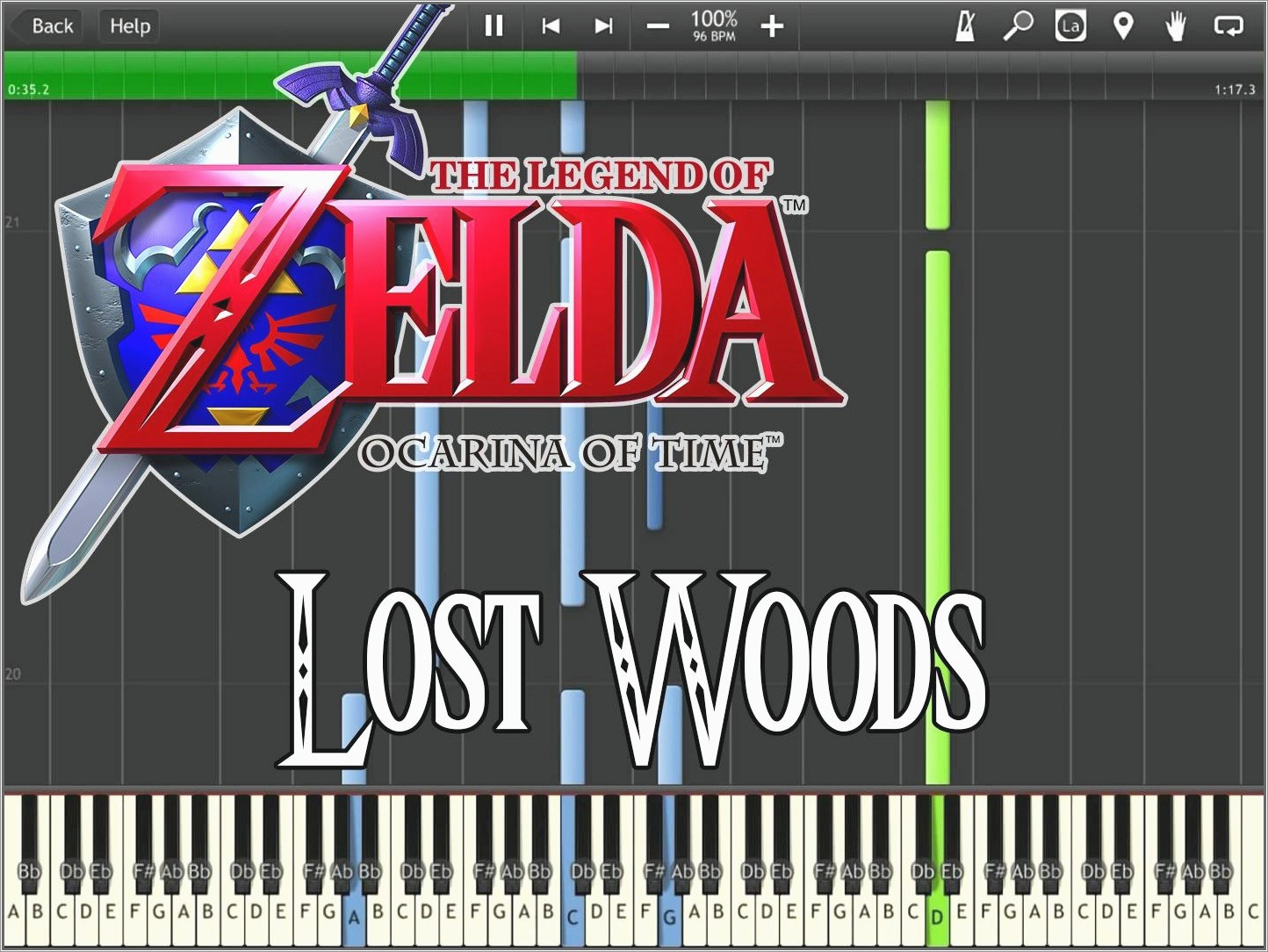 Lost Boy Piano Easy Letters