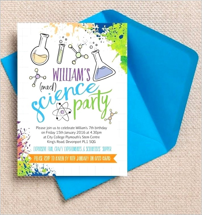 Mad Science Birthday Invitation Template