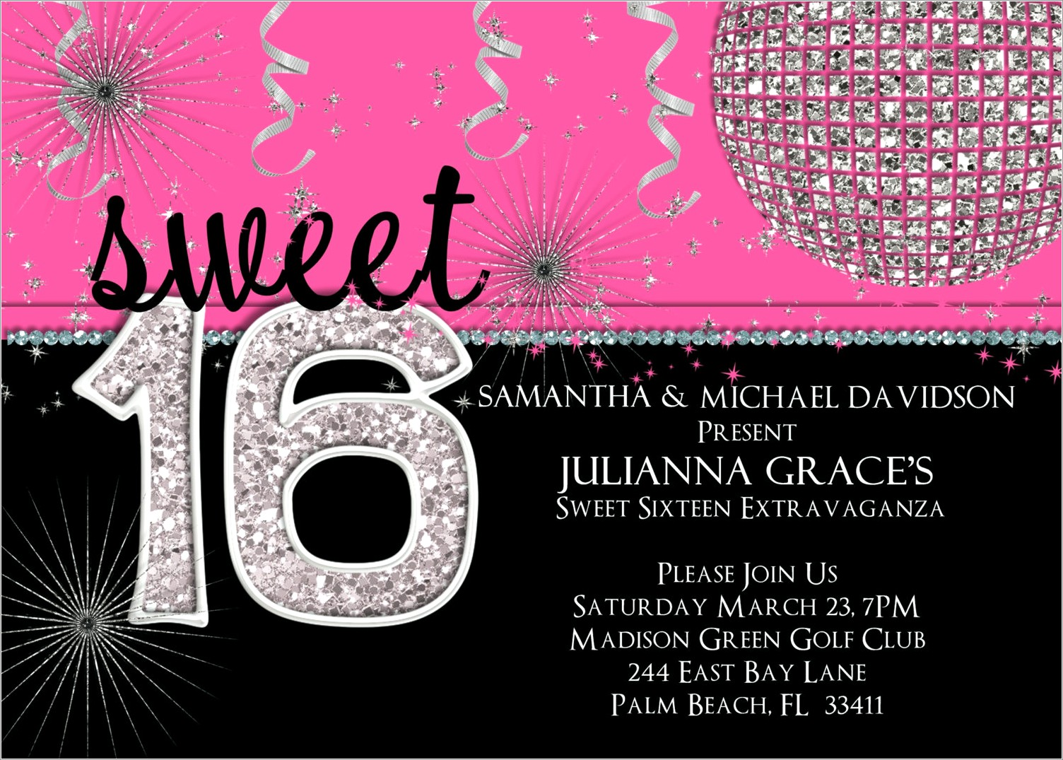 Make Sweet 16 Invitations Online For Free