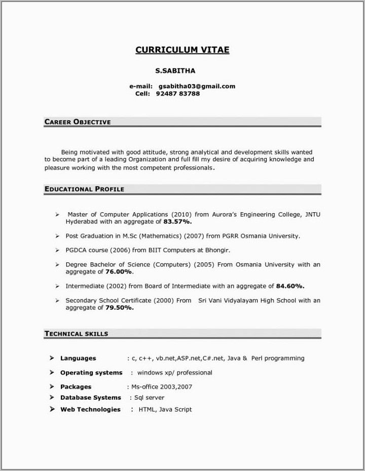 Mechanical Engineer Resume Sample Pdf Download