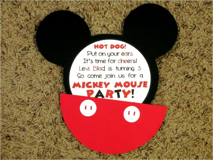 Mickey Mouse Invitations In Spanish