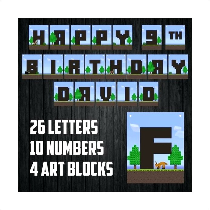 Minecraft Banner Letters B