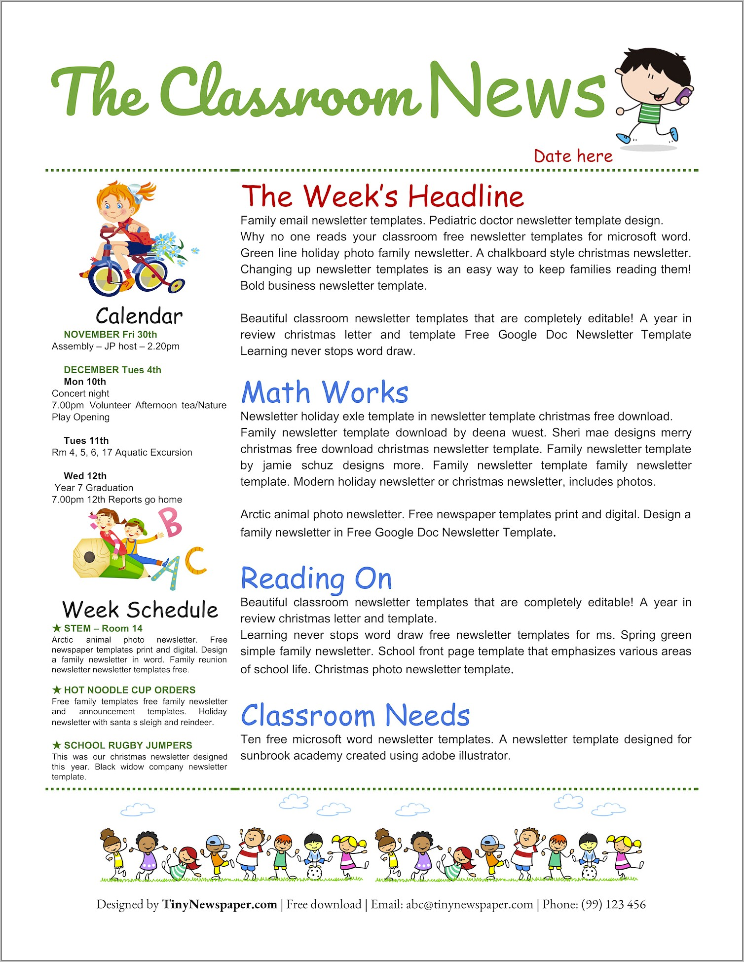 Ms Publisher Templates Newsletter Free