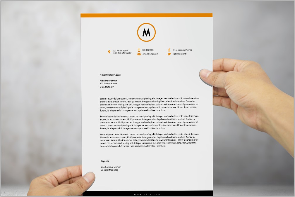 Ms Word Template For Letterhead