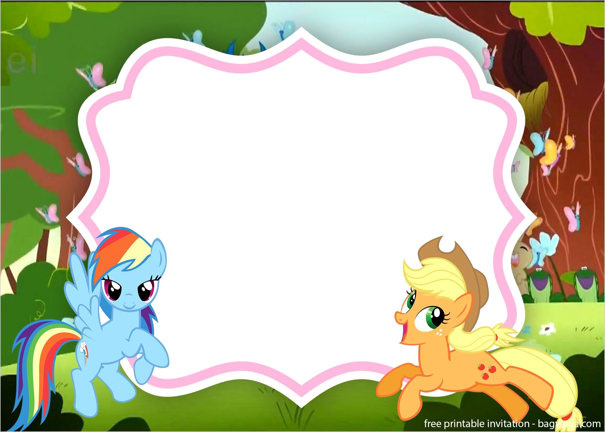 My Little Pony Invitations Template Free