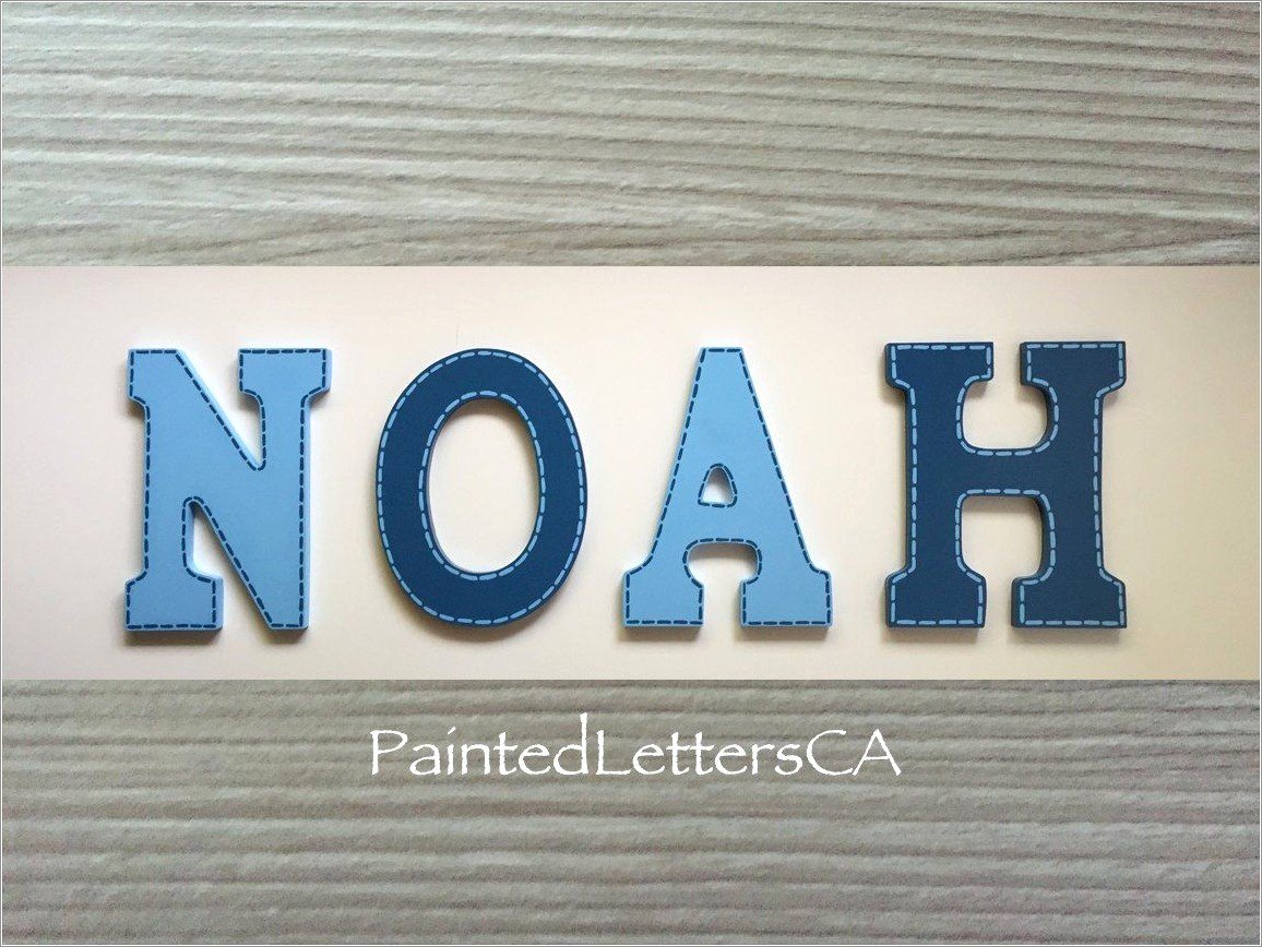Navy Blue Wooden Wall Letters