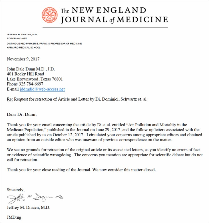 Nejm Letter To The Editor
