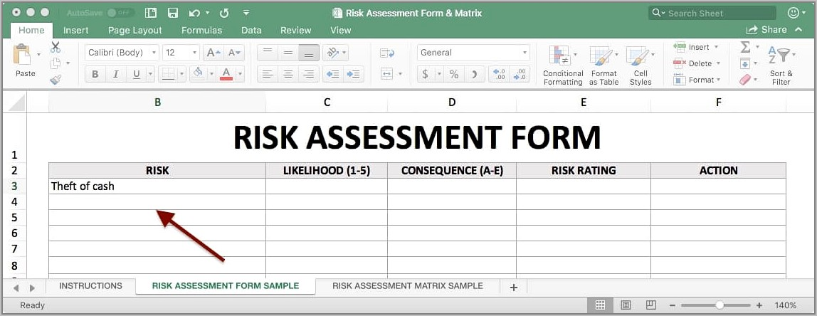 New Supplier Risk Assessment Template