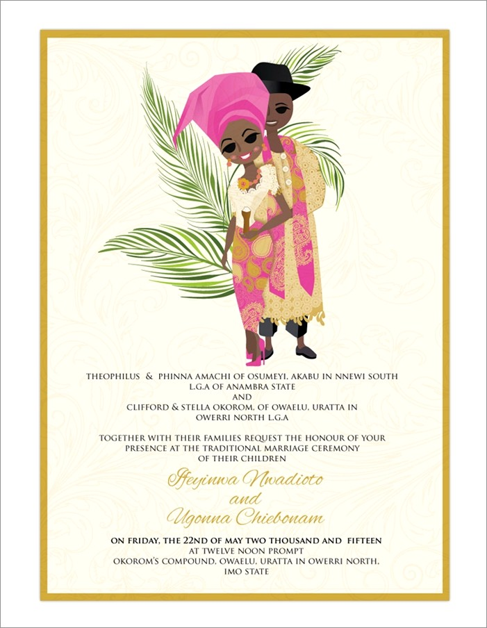 Nigerian Traditional Wedding Invitation Card