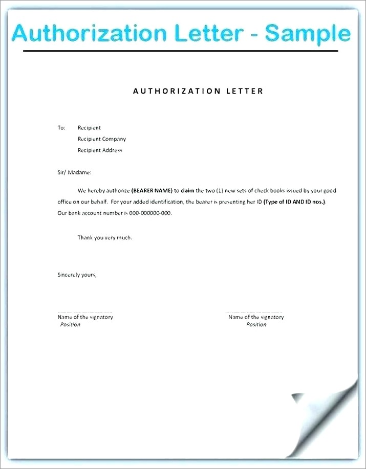 Notarized Authorization Letter Format