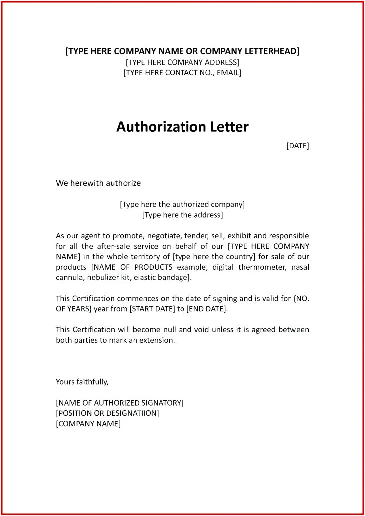 Notarized Authorization Letter Sample Philippines