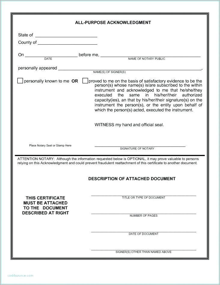 Notarized Letter Of Residency Texas