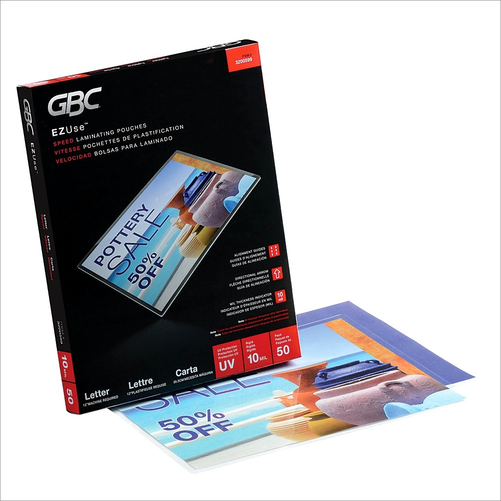 Office Depot Letter Size Laminating Pouches
