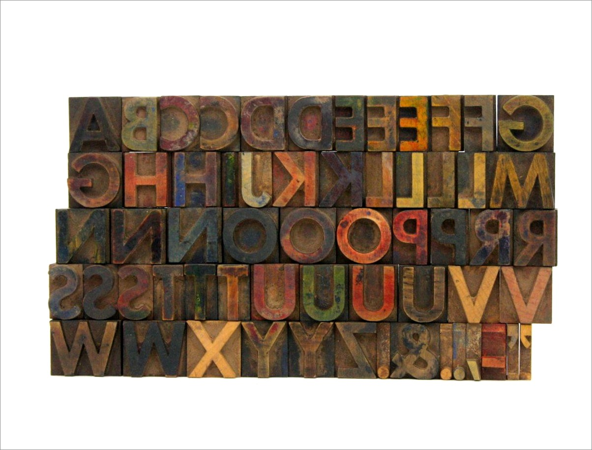One Inch Wooden Letters