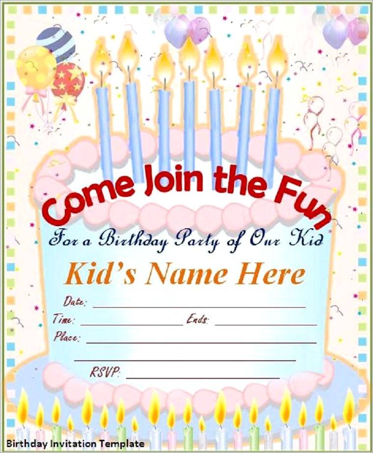 Online Birthday Invitation Templates Free