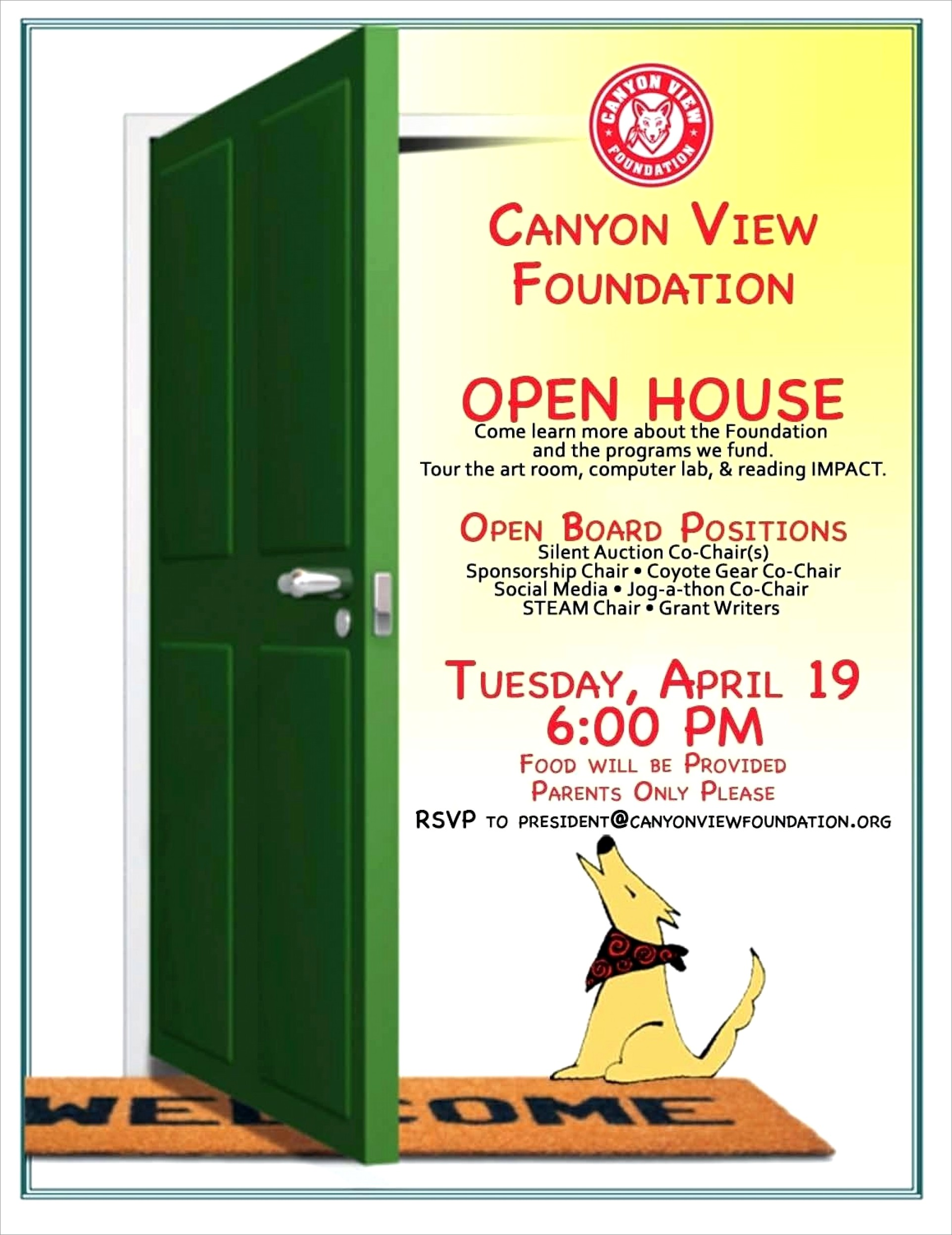 Open House Invitation Verbiage