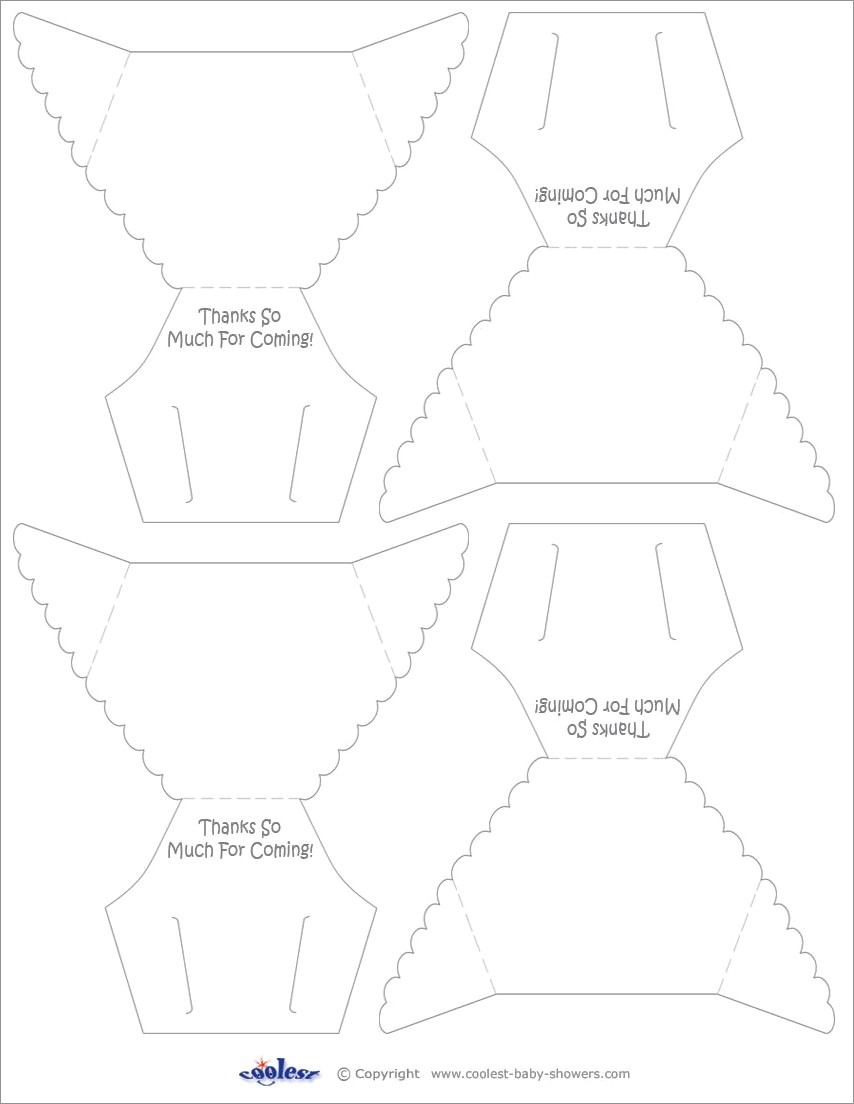 Outline Diaper Invitation Template